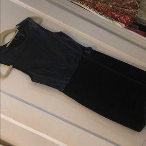F21 faux Leather wrap dress